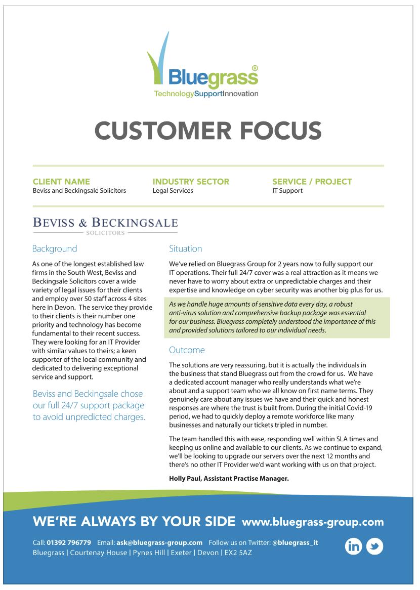 Beviss case study